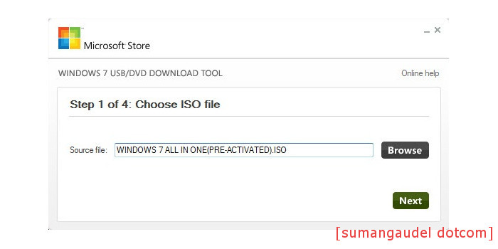 Browse ISO file