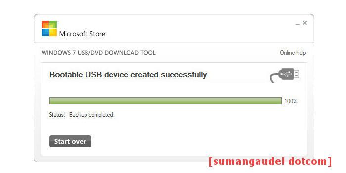 Finishing of Create bootable USB drive