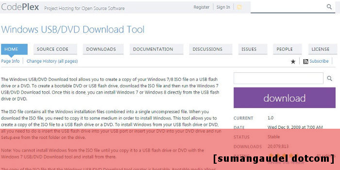Windows USB download Tool