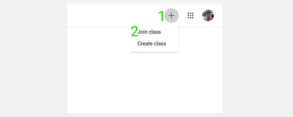Google classromm join the class